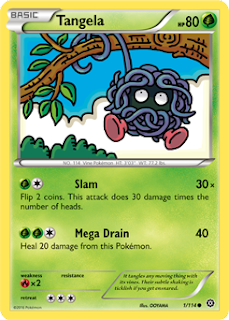 Tangela Steam Siege Pokemon Card