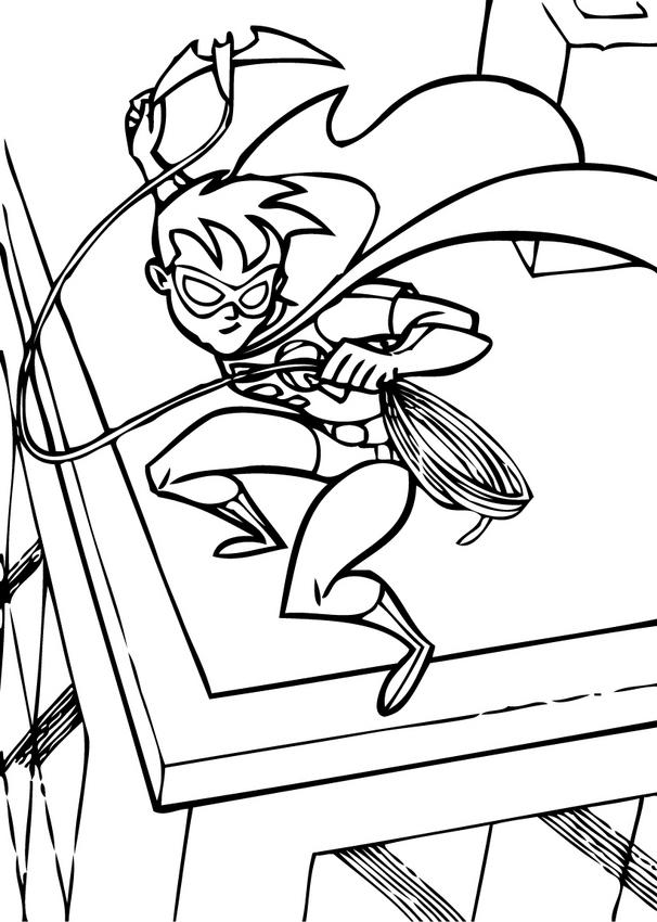 Robin Batman and Superman Coloring