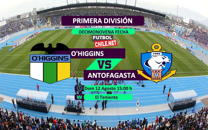 Mira O'Higgins vs Deportes Antofagasta en vivo y online por la Primera División de Chile