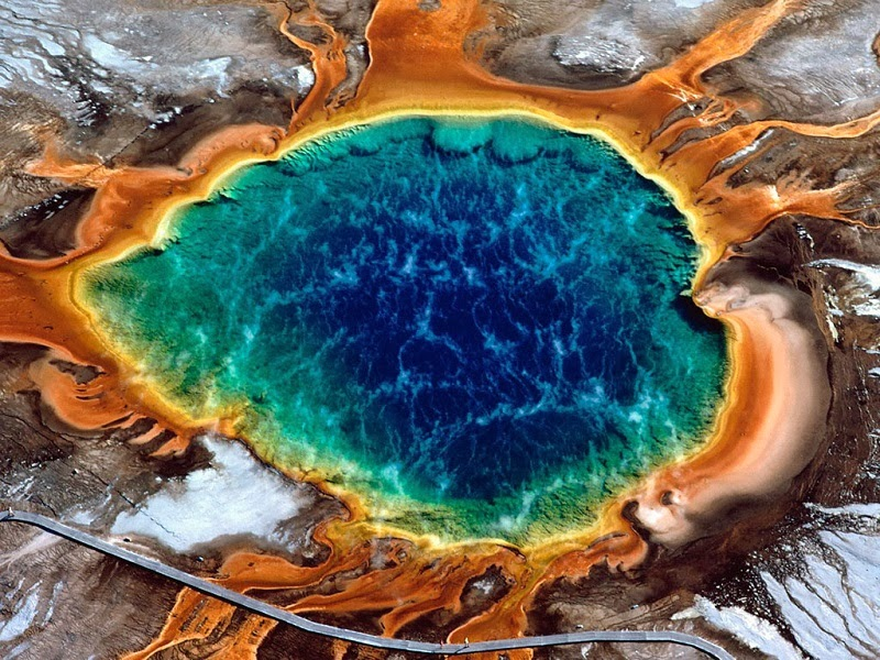 Grand Prismatic Spring, Yellowstone National Park, U.S. - Too Beautiful To Be Real? 16 Surreal Landscapes Found On Earth
