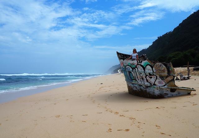 Shipwreck at beach
