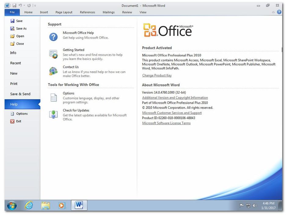 Windows 7 SP1 Ultimate X64 + Office 2010 SP2 April 2019
