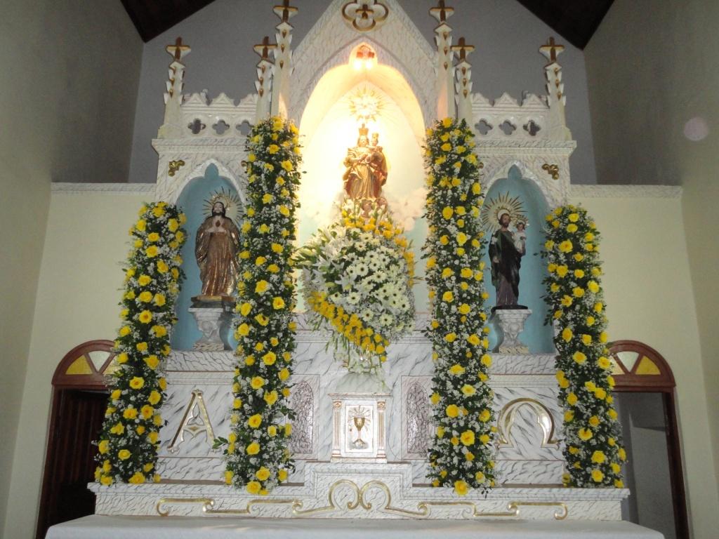 Festa De Nossa Senhora Aparecida: Ornamentação Da Festa De Nossa Senhora.