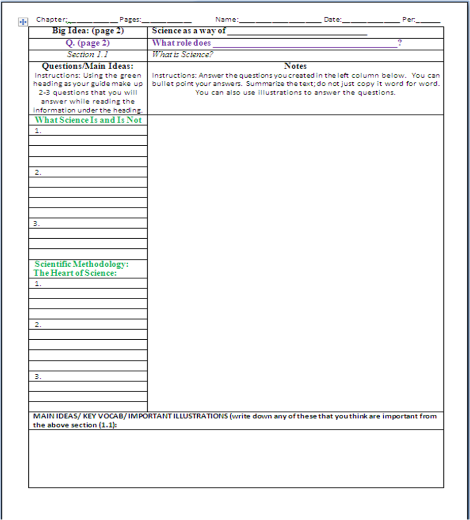 note taking word template Template – Microsoft Word Note Taking Template