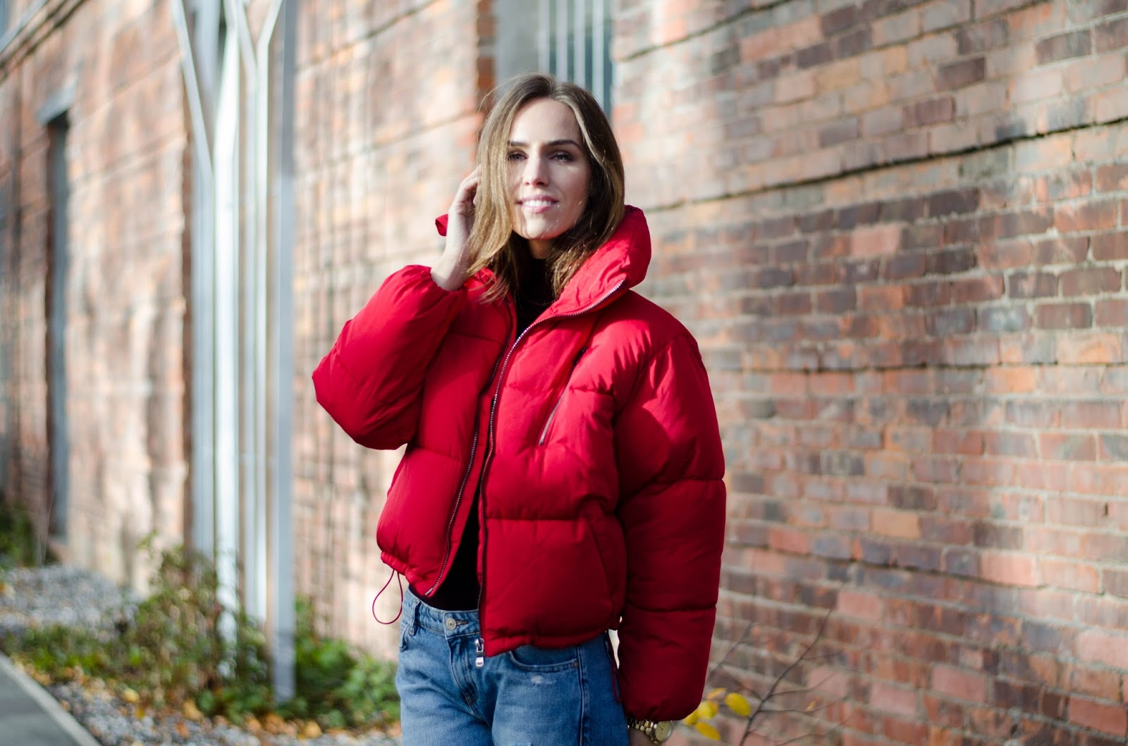 red puffer jacket fall 2016