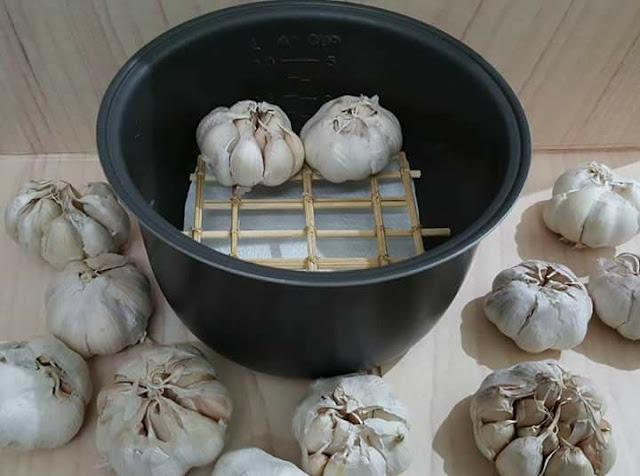 Cara Membuat Bawang Hitam atau Black Garlic