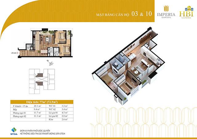 Thiết kế căn hộ 03 10
