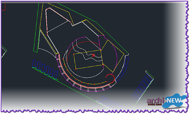 - Horizontal projections of the project Full file hall sport dwg