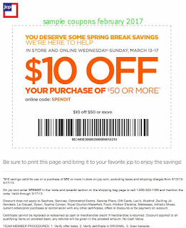 JCPenney coupons for february 2017