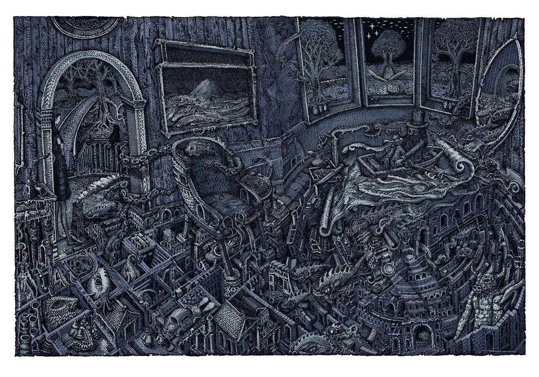 INSIDE THE ROCK POSTER FRAME BLOG: David Welker The Maze Art Print ...