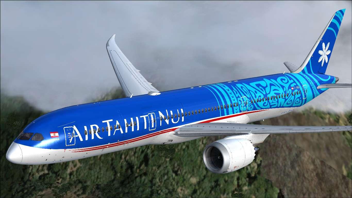 Texturas Brasileiras: Air Tahiti Nui Boeing 787-9 F-ONUI