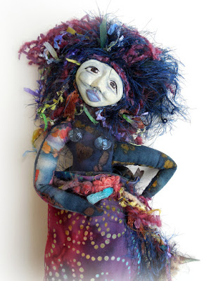 Messy Perfection an OOAK Spirit Doll Wisdom Keeper Art Doll by Jeanne Fry