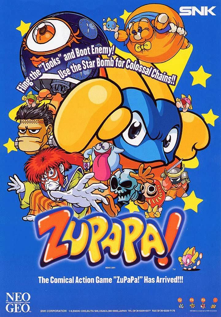 Zupapa!+arcade+game+portable+retro+art+flyer