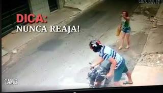 Mulher reage à assalto e briga com assaltante em Juazeiro do Norte