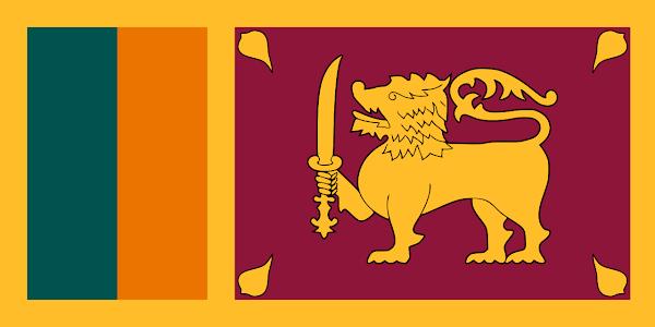 Logo Gambar Bendera Negara Sri Lanka PNG JPG ukuran 600 px
