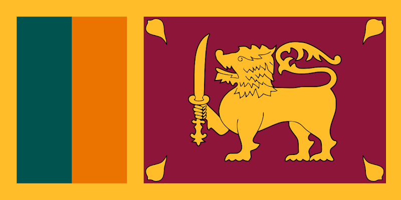 Logo Gambar Bendera Negara Sri Lanka PNG JPG ukuran 800 px