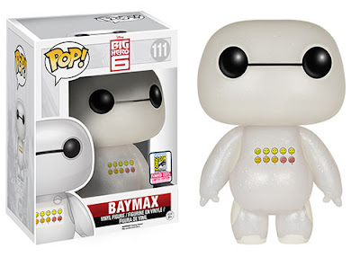 "San Diego Comic-Con 2015 Exclusive Big Hero 6 ""Translucent Glitter Emoticon"" Baymax Pop! Disney Vinyl Figure by Funko"