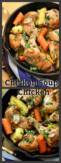 Chicken Soup Chicken is made with everything that goes into chicken soup. But no broth! So good and just what the doctor ordered! www.thisishowicook.com #chicken #chicken soup