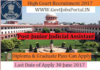 Delhi High Court Recruitment 2017 – 124 posts of Junior Judicial Assistant / Restorer