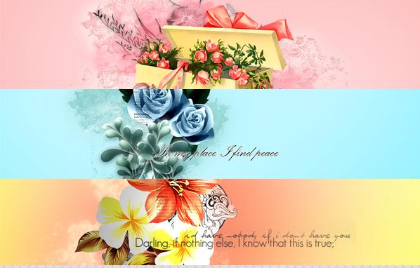 خلفيات زهور هادئة لتصميم أجمل كفرات الفيس بوك وتصميمات المناسبات والتهانى