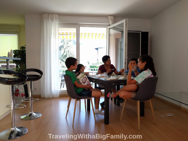 Staying with a big family in France near Basel, Switzerland