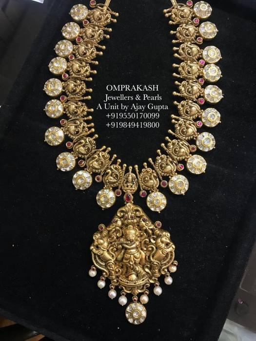 Kundan Haram Krishna Pendant by Omprakash