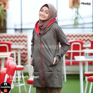 Hijacket Hijab Japan Street Style HJ-JS1 [Premium Dark Grey]
