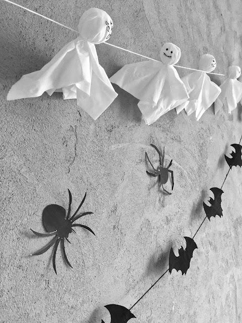 papierowe ozdoby halloween