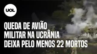 Queda de avião militar na Ucrânia – Bolsonaro recebe alta – Bruna Louise relembra cirurgia no seio