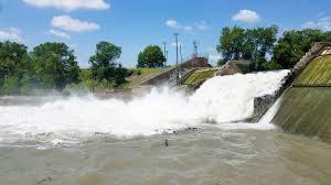 Lake Dunlap spillway dam collapse