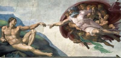 La création d'Adam - Michelangelo (Buonarroti)