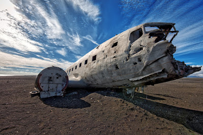 The white fuselage against the black sand beach at Sólheimasandur is every photographer's dream