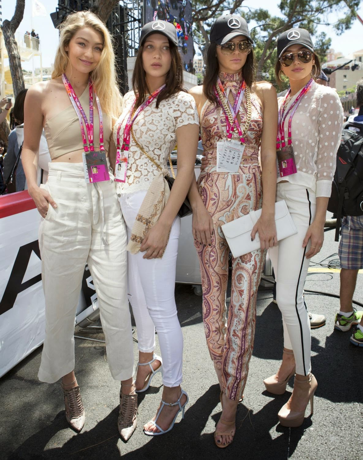 Gigi Hadid, Bella Hadid, Kendall Jenner and Hailey Baldwin at Formula 1 Grand Prix of Monaco