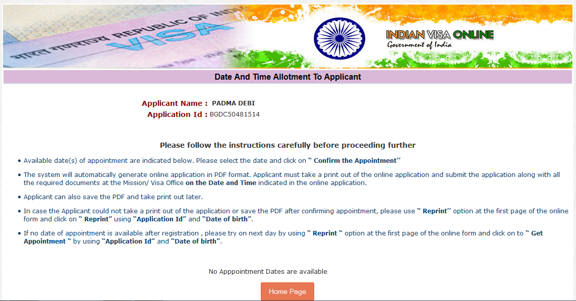 Indian Visa Appointment  Accurate Date and Time (Update Daily)