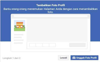 Unggah photo profile ke halaman facebook