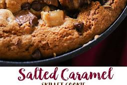 Salted Caramel Skillet Cookie