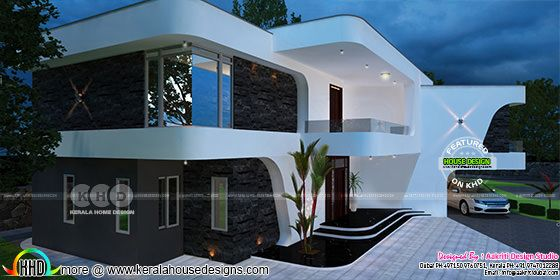 Creative unique home with flowing design