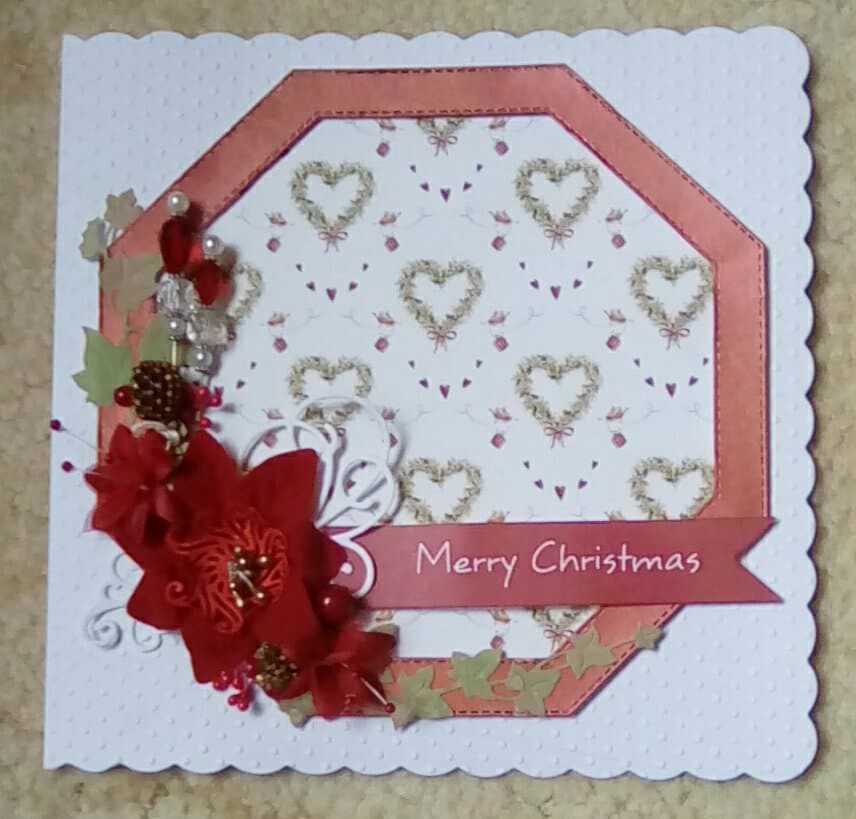 Cotswold Crafter: Cheryl's Prize Winning Christmas Card