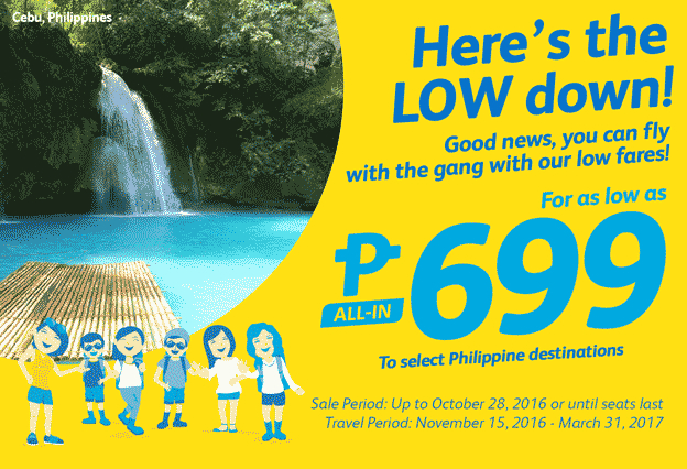 Cebu Pacific Promo 699 All-In Fare 2017