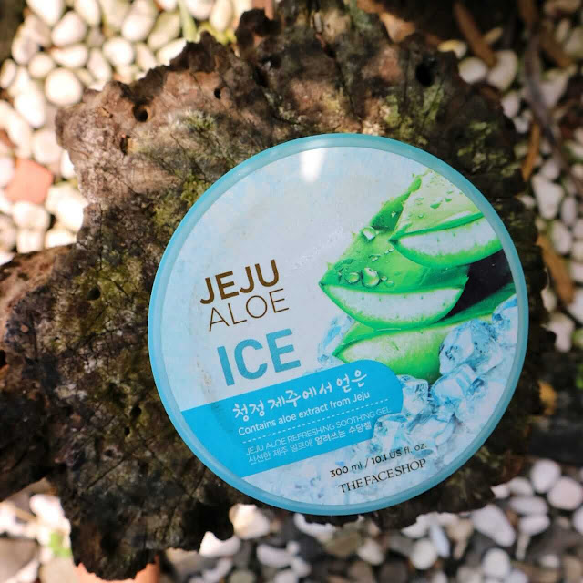manfaat dan review the face shop jeju aloe ice untuk mengatasi kulit yang terbakar sinar matahari