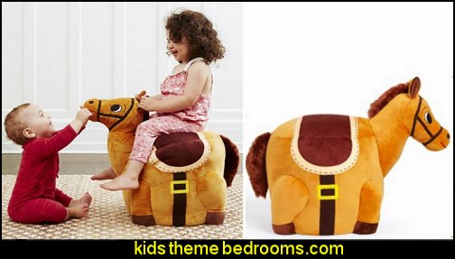 Stuffed Horse Play Chair