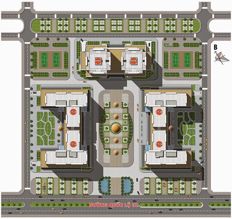 Tổng thể dự án chung cư Tân Tây Đô