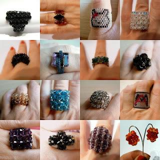 anillos creativos de cuentas