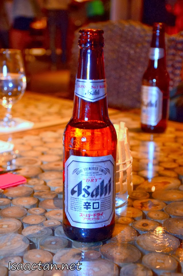It was all about the Ice cold Asahi Super Dry that night