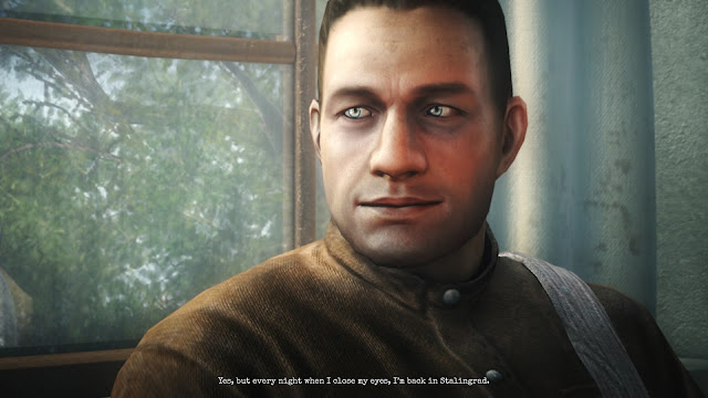 Screenshot of cutscene in Company of Heroes 2