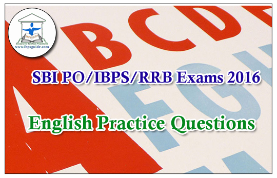 SBI / IBPS PO-Practice English Questions (Reading