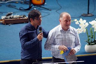 FOTO: Botez la Biserica Agape Timisoara - 15 mai 2016