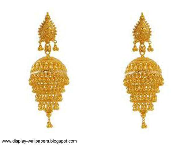 best hd wallpapers for ipad: Pure Gold Earrings Designs ...