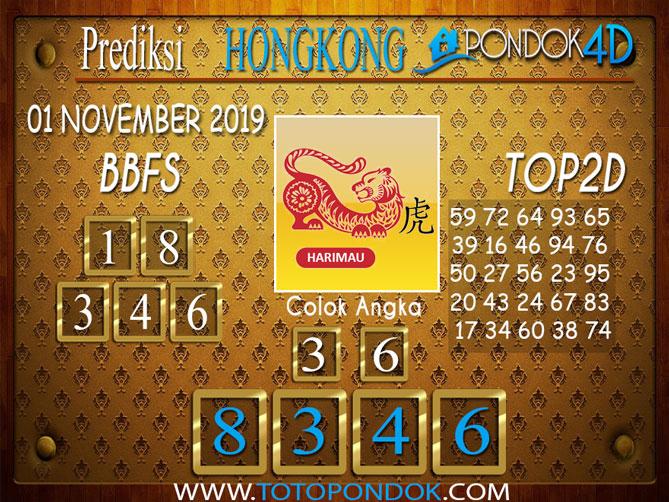 Prediksi Togel HONGKONG PONDOK4D 01 NOVEMBER 2019