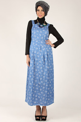 Model Dress Panjang Muslim Jeans Modis dan Trendy Terbaru